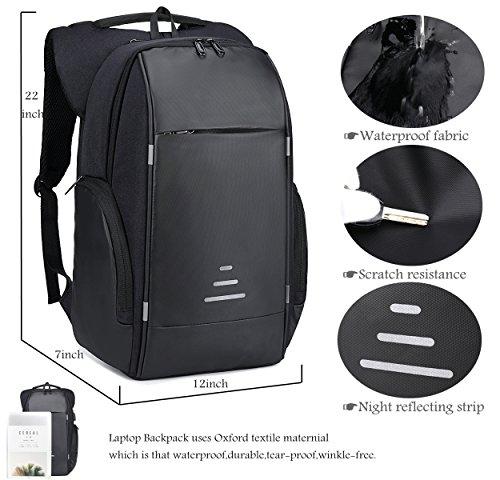 Netchain Zaino per Computer Portatile con Porta di Ricarica USB Backpack Laptop Zaino Antifurto da 15.6 Pollici Zaino… 3 spesavip