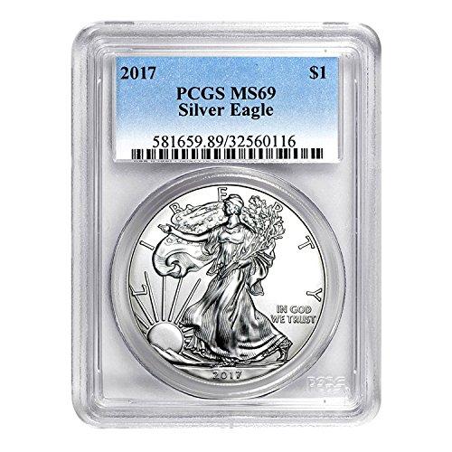 2017 American Silver Eagle $1 MS-69 PCGS
