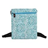 NuVur153; Universal Women's 10 inch Lace Print Backpack Bag Fits AllFine Fine 10 Joy RK3066, 3 Speed Quad HD|Teal