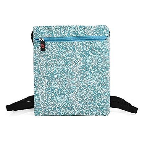 NuVur153; Universal Women's 10 inch Lace Print Backpack Bag Fits Archos 97 carbon, Platinum HD, Titanium HD, Xenon, 97B Titanium, (Archos Carbon 97)