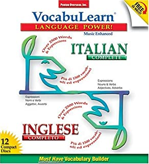 Vocabulearn Italian & English Complete Set: 12 CD's, 3 Booklets