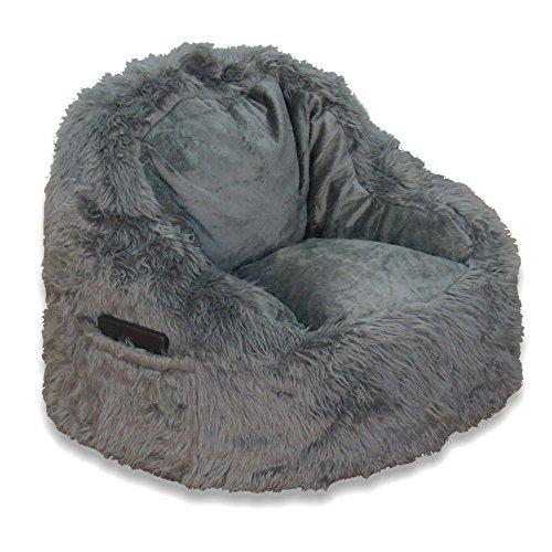 Ace Casual Furniture Fur Tablet Bean Bag Pocket Chair