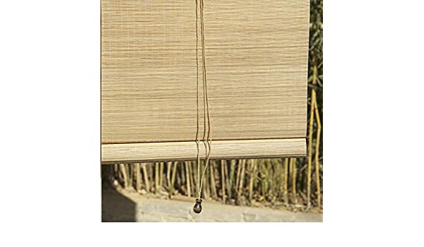 LXLA - Persianas enrollables de Madera for Exteriores con Tirador Lateral - Persianas enrollables Opacas al 55% for Patio, glorieta, pérgola, Porche, jardín, toldos (Size : W100cm X H200cm): Amazon.es: Hogar