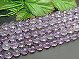 g3-54C  10mm ラベンダーアメジスト 紫水晶 1連39cm 鑑別済・本物保証 ブラジル産 天然石 パワーストーン