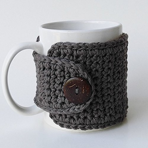 Cotton Coffee Mug Cozy Gray
