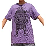 Sure Wonky Robot Print Wrinkled Vintage T-Shirt