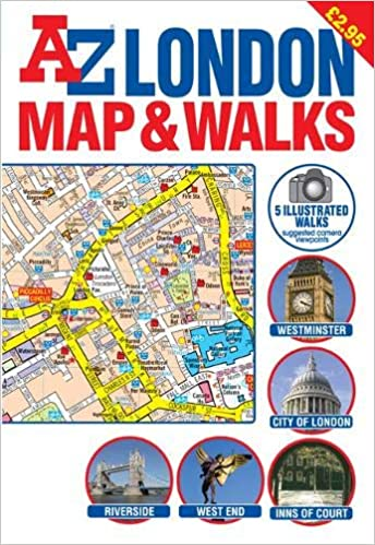Az Street Map Of London.A Z London Map And Walks Street Maps Atlases Geographers A Z