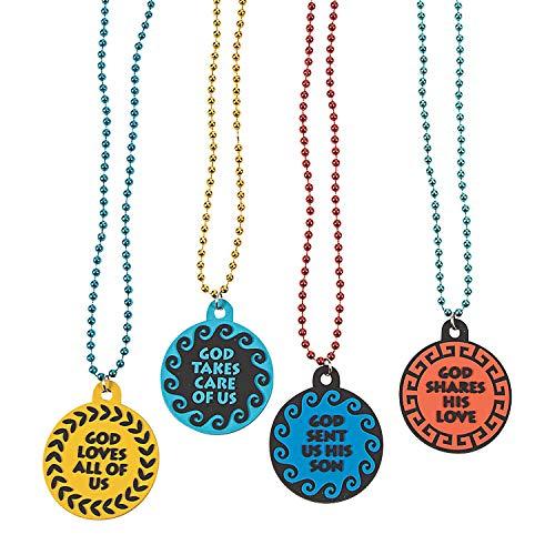 - Fun Express - Athens Vbs Beaded Necklace - Jewelry - Mardi Gras Beads - Misc Mardi Gras Beads - 12 Pieces