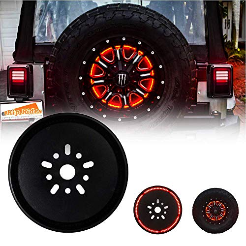 (Spare Tire Brake Light Third Brake Light Wheel Light LED Ring for Jeep Wrangler 2007-2017)