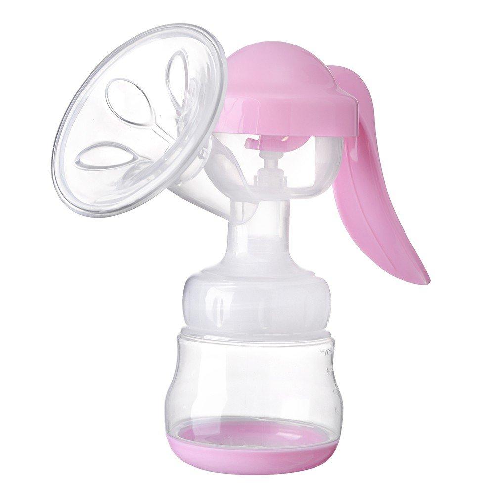 MiyaSudy Snug Portable Manual 150ml Breast Pump Breast Feeding Baby Nipple Suction Milk Bottle Sucking