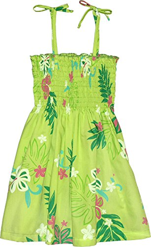RJC Girls Tropical Blooms Elastic Tube Dress GREEN 12 by RJC