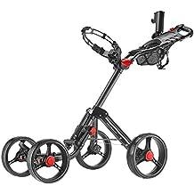 CaddyTek Superlite Explorer 4 Wheel Golf Push Cart, Dark Grey