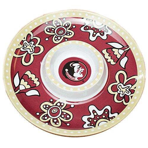 Bulldogs Melamine Chip - Glory Haus Florida State Chip -FeetN Dip Platter, 14-Inch