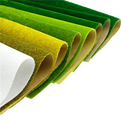 Artifical Model Grass Mat Trains Green White Yellow 2040/2099 For Decoration Kids Craft Scenery Model DIY (7 color)
