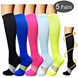 Compression Socks For Men & Women-3/5 Pairs-Best For Running, Athletic, and Travel