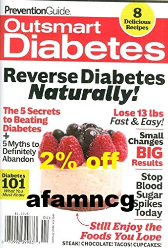 Prevention Guide Magazine Outsmart Diabetes 2018 Reverse Diabetes Naturally