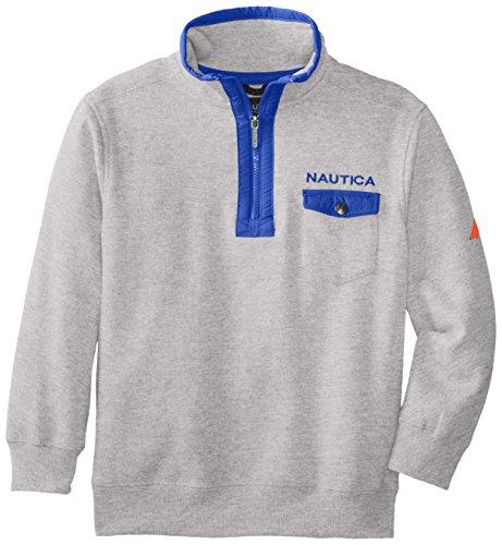 Nautica Big Boys' Fleece 1/4 Zip Sweatshirt, Ash Heather, Small ()