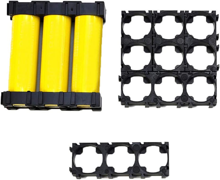 luosh 20PCS Safety 1x3 Battery Holder Bracket Plastic Cell Stand for 21700 Batteries