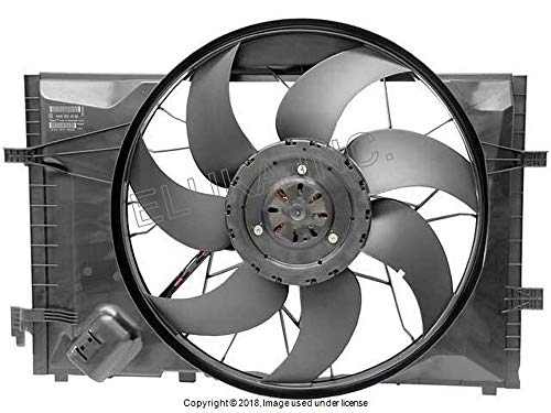 Mercedes Benz Auxiliary Fan Assembly (Includes Shroud) - Between Radiator and Engine