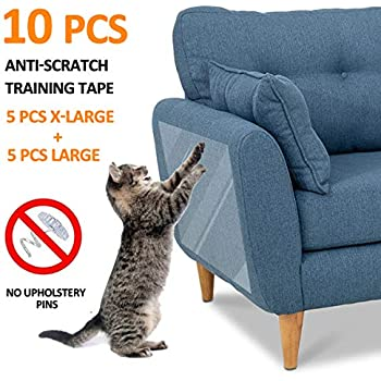Surprising Focuspet Furniture Protectors From Cats 10Pcs Cat Scratch Deterrent Sheet Double Sided Training Tape An Ti Pet Scratch For Leather Couch Furniture Andrewgaddart Wooden Chair Designs For Living Room Andrewgaddartcom