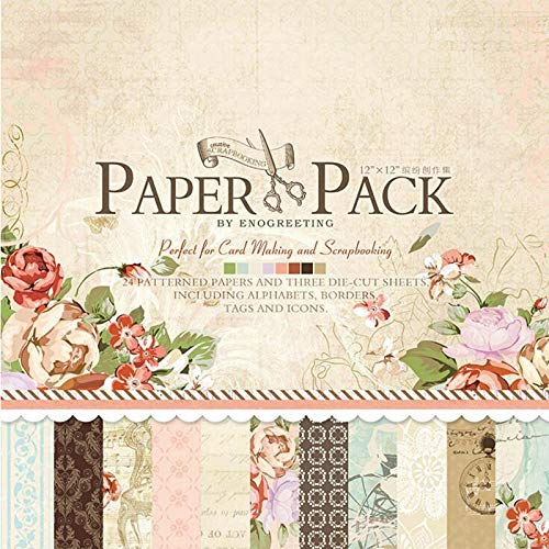 Craft Paper|European Vintage Printed Pattern Decorative Charm Scrapbooking DIY Background Craft Paper Embellishment Photo Album|by ATUSY - Grass Photo Charm