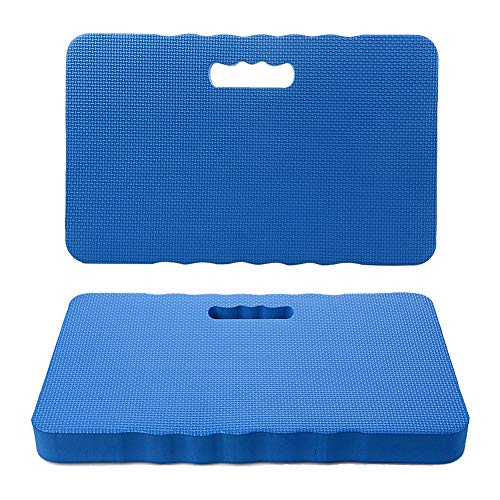 IronBuddy 2Pcs Kneeling Cushions EVA Thick Foam Kneeling Mats Portable Waterproof Kneeling Pad for Garden,Baby Bath,Yoga,Exercise(17.7x11.6x1.6 inches) by IronBuddy