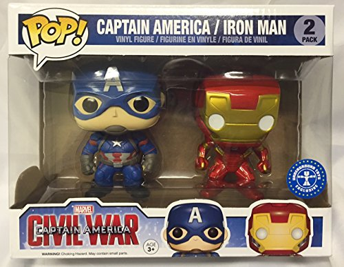 New Statue Ironman Avengers (Funko Pop Captain America Civil War Exclusive 2-Pack With Cap and Iron Man)