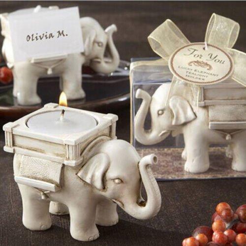 Elephant Candle Stand - Windspeed Elephant Antique Ivory-Finish Tea Light Holder Tea Light Candle Stand Decor