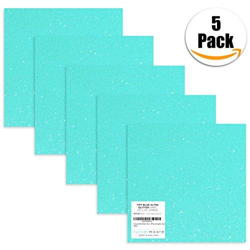 Turquoise/Aqua/Teal Glitter Vinyl Sheets 12