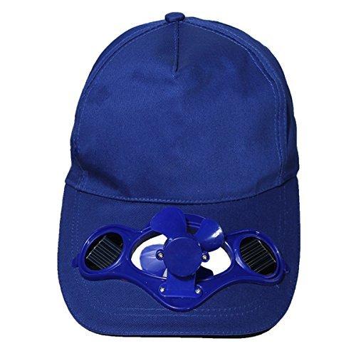 SODIAL(R)Summer Outdoor Solar Sun Power Hat Cap Cooling Cool Fan for Golf Baseball Sport - blue (Cooling Solar Fan Cap)