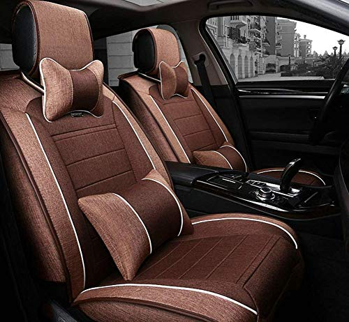 Seat cover front and rear seats 5 seats Universal car seat cover four seasons (color: A):