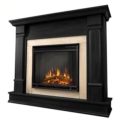 Solid Mahogany Fireplace Mantel (Real Flame Silverton Electric Fireplace)