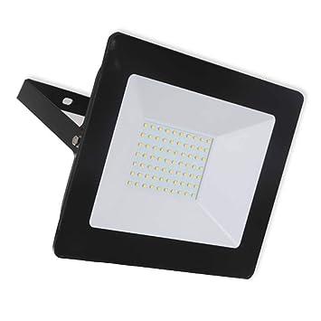 PROYECTOR LED SLIM NEGRO 50W COOL LIGHT 6500K VT-4051 5960: Amazon ...