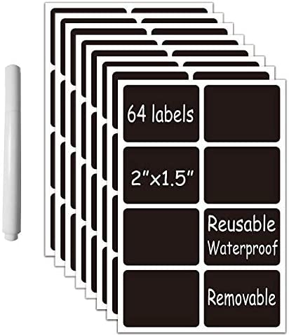 Chalkboard Stickers Removable Waterproof Blackboard Rectangular