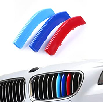 3D M Styling Car Front Trim Strips Grills Cover Performance Stickers  7 Grilles