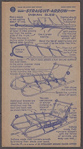 (Nabisco Straight Arrow Card Book 2 #17 Indian Sled 1951)
