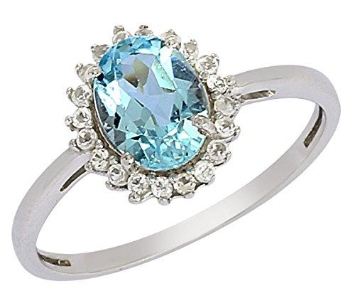 Banithani 925 argent sterling magnifique topaze bijoux de mode anneau de pierre
