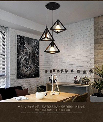 lediary vintage iron triangular pendant light industrial hanging