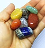 Chakra Stone Set with 7 Crystals, Sage, Abalone
