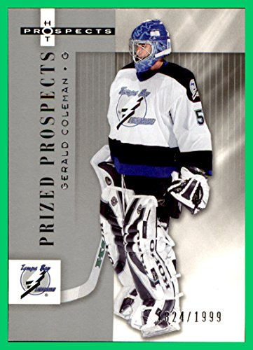 2005-06 Hot Prospects #170 Gerald Coleman RC SERIAL #1824/1999 TAMPA BAY LIGHTNING - Tampa Bay Coleman