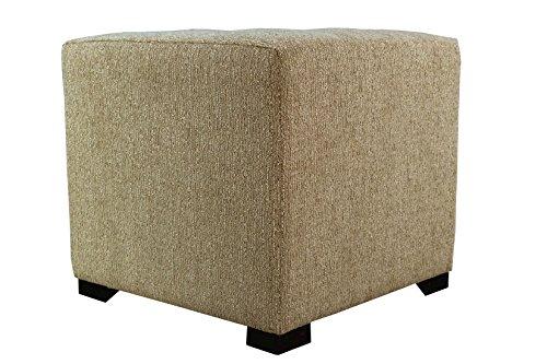 MJL Furniture Designs Upholstered Cubed/Square Olivia Series Ottoman, 17'' x 19'' x 19'', Doe by MJL Furniture Designs