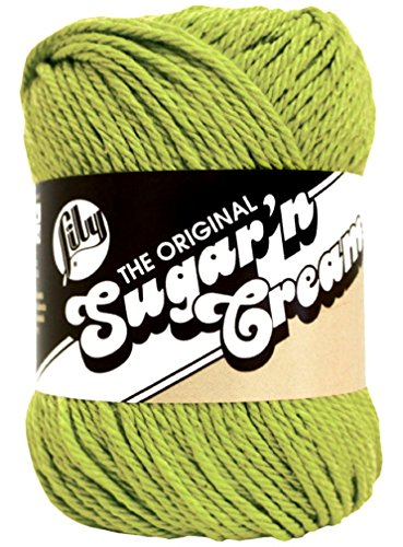 Lily Sugar 'n Cream 100% Cotton Solid Yarn ~ HOT GREEN # 1712 ~ New 2.5 oz. Skein By the Each