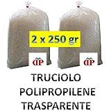 TRUCIOLO POLIPROPILENE TRASPARENTE 2 PACCHI da 250GR paglia sintetica per ceste natalizie e confezioni regalo
