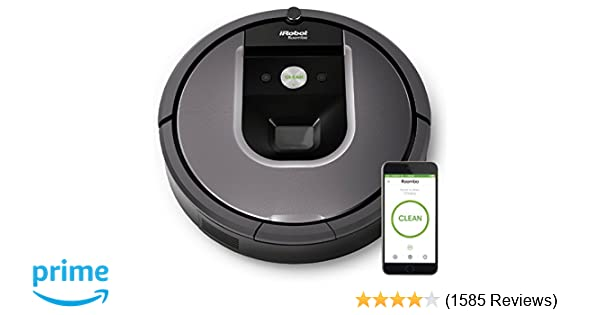 Amazon.com: iRobot Roomba 960 Robot Vacuum with Wi-Fi Connectivity, Works with Alexa, Ideal for Pet Hair, Carpets, Hard Floors: Home & Kitchen