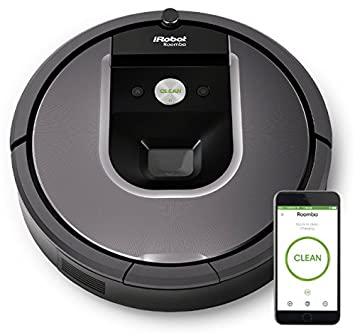 iRobot Roomba 900 Series 960 Robot Vacuum with Wi-Fi Connectivity (Black) Robotic Vacuums at amazon
