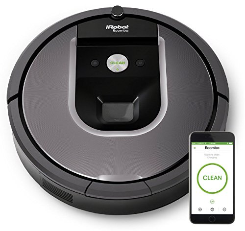 iRobot Roomba 960 Robot Vacuum with Wi-Fi Connectivity powered by Lithium Ion, Works with - Sweeper Battery Powered