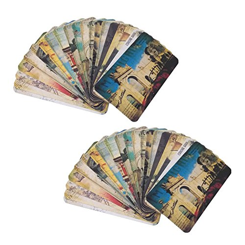 Honbay 40pcs Vintage Retro Old Eiffel Tower Travel Postcard Landscape Photo Picture Post Cards
