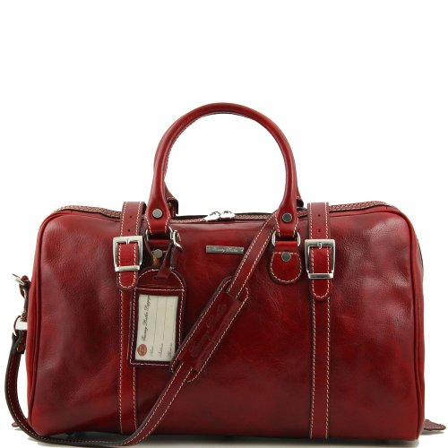 Tuscany Leather , Herren Schultertasche Rot rot