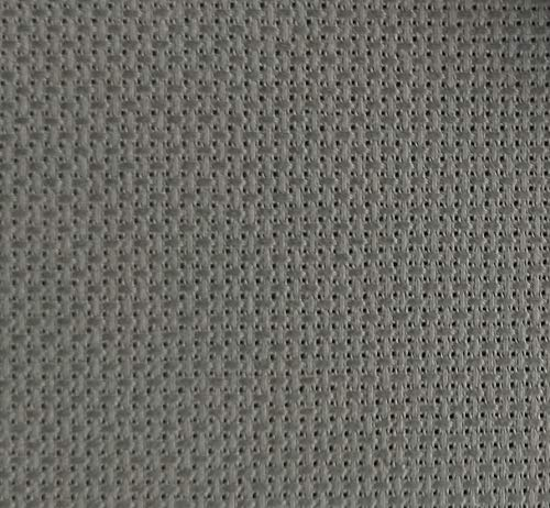 59″x 1 Yard 14ct Counted Cotton Aida Cloth Cross Stitch Fabric (Grey)