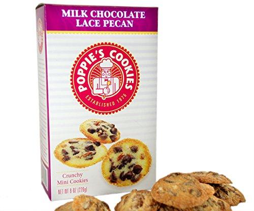 Poppie's Dough Crispy Mini Cookies (8oz Vintage Box) – Milk Chocolate Lace Pecan